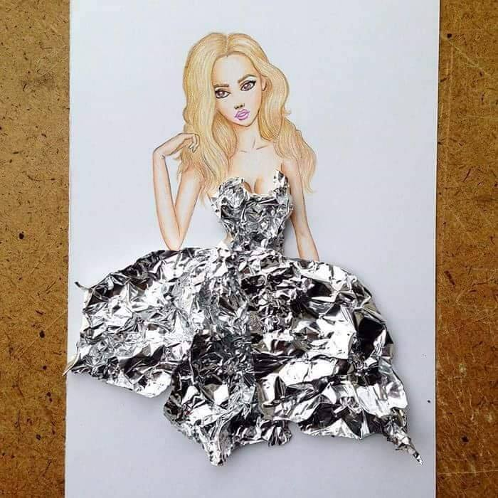 فستان ورق فويل