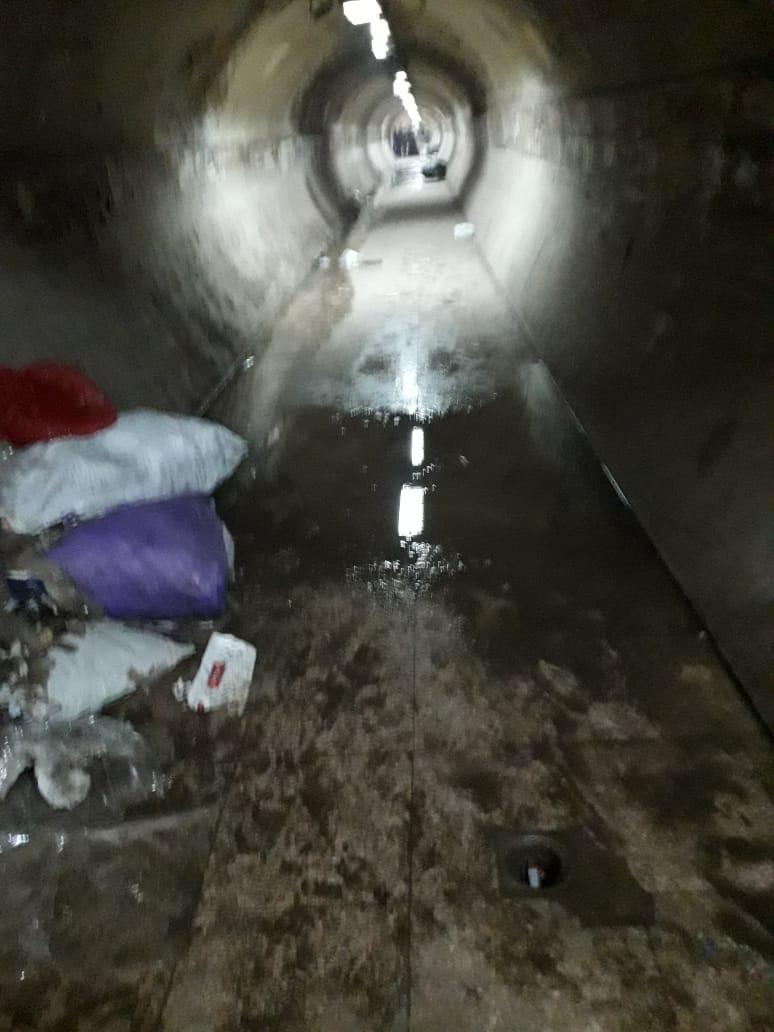 المياة الجوفية تحاصر نفق المؤسسة بشبرا الخيمة (7)