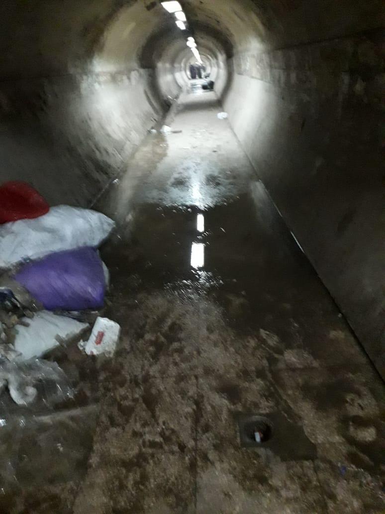 المياة الجوفية تحاصر نفق المؤسسة بشبرا الخيمة (3)