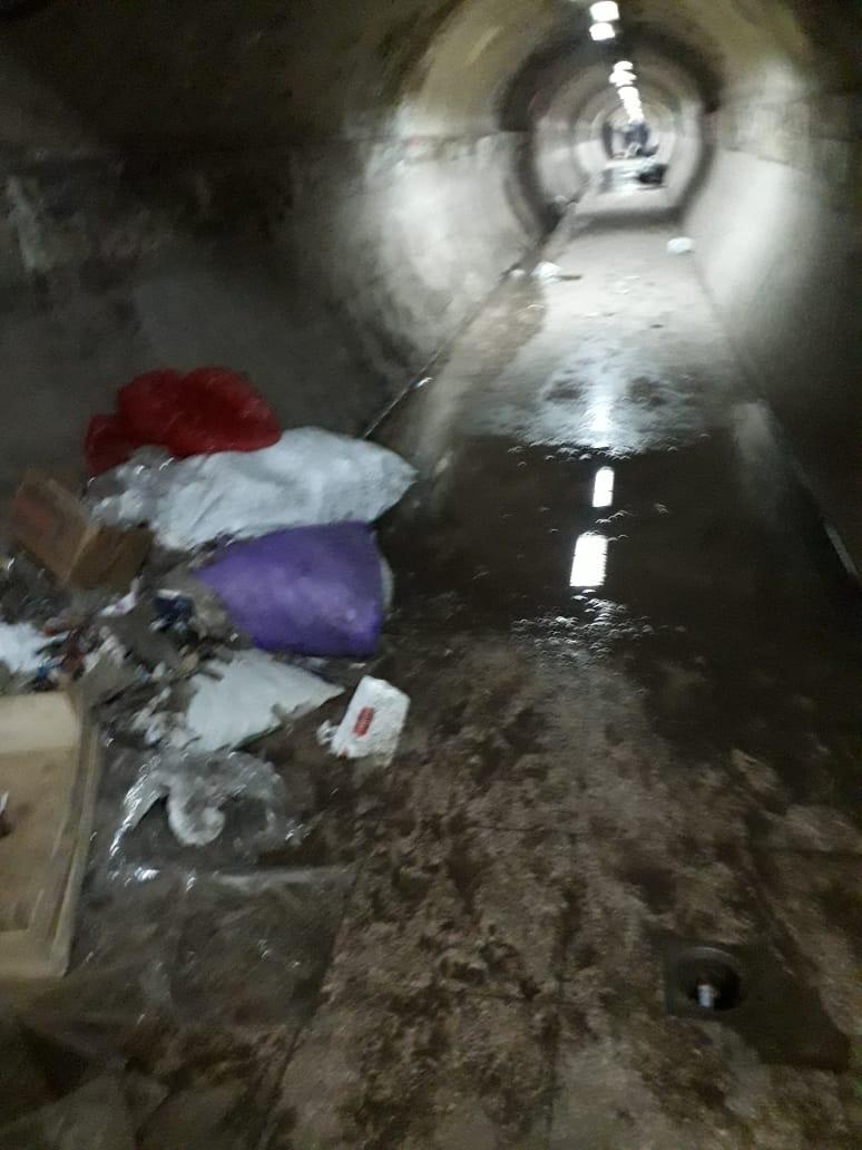 المياة الجوفية تحاصر نفق المؤسسة بشبرا الخيمة (5)