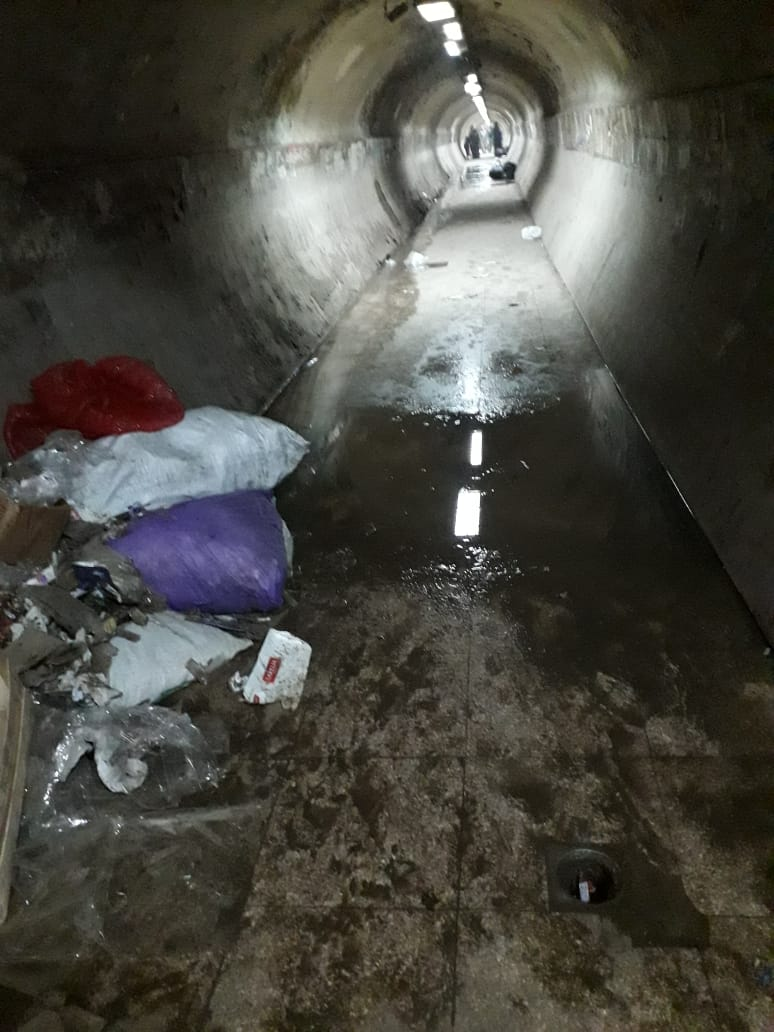 المياة الجوفية تحاصر نفق المؤسسة بشبرا الخيمة (2)