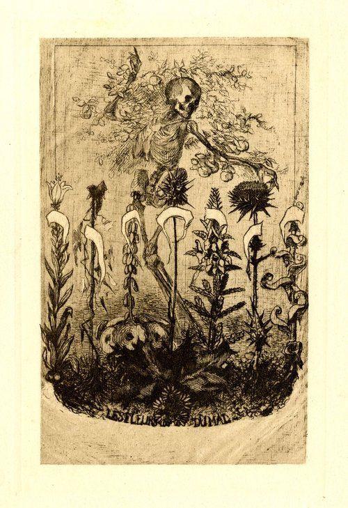 لوحة غير منشورة لديوان أزهار الشر لـ شارل بودلير