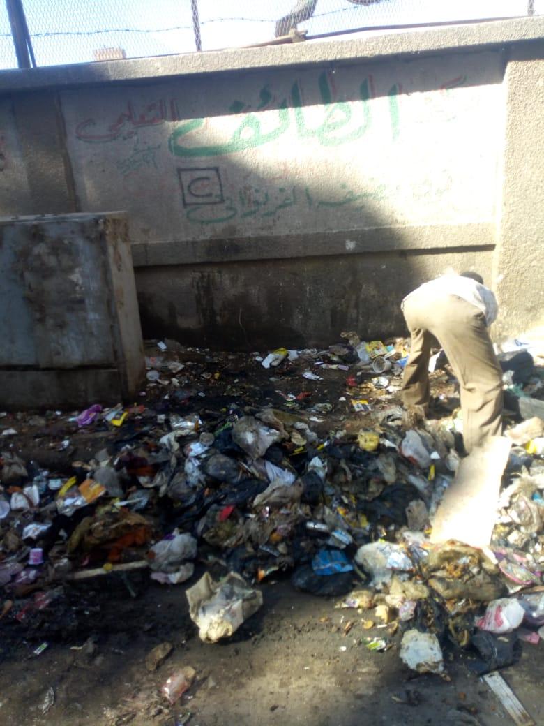 رفع القمامة من شارع عرابى بشبرا الخيمة (10)