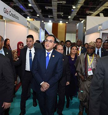 رئيس الوزراء يفتتح فعاليات المعرض الأفريقى الأول للتجارة البينية (37)