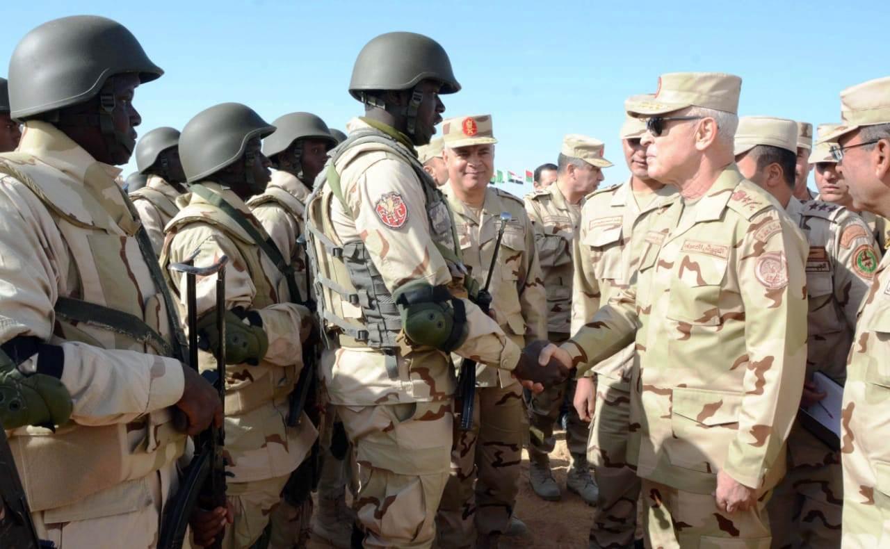 الفريق محمد فريد يشهد المرحلة الرئيسية لتدريب دول الساحل والصحراء (5)