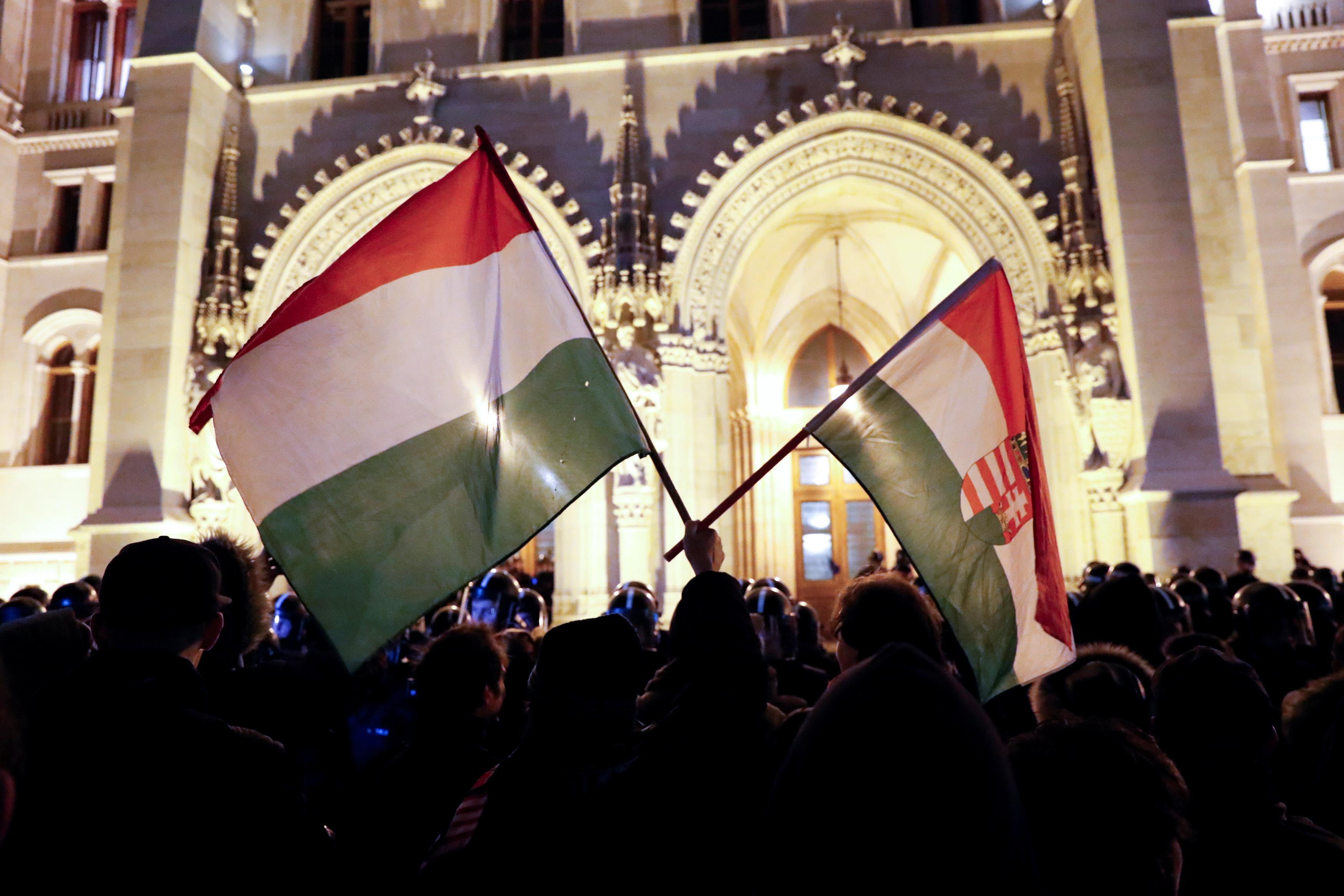 احتجاجات فى المجر ضد قانون العمل الجديد (4)