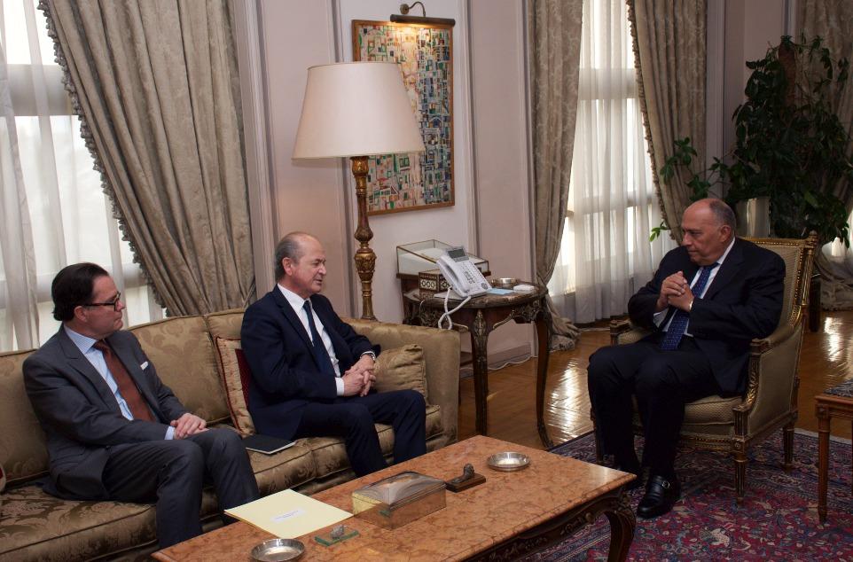 وزير الخارجية يلتقى المبعوث الشخصي للرئيس الفرنسي الى سوريا