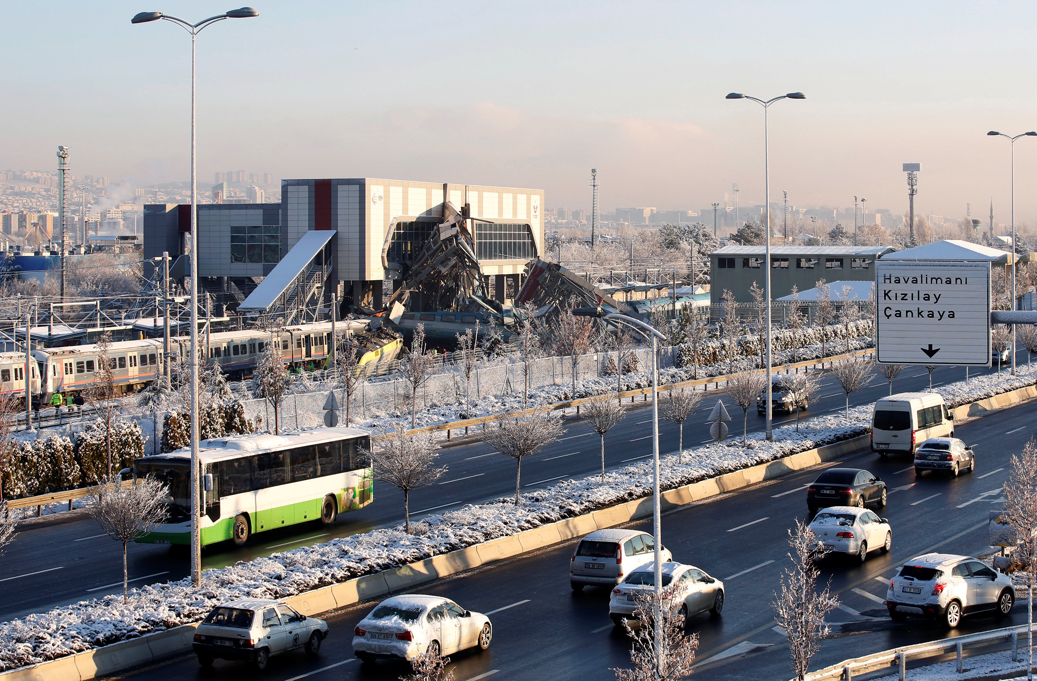 موقع حادث القطار فى أنقرة