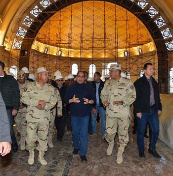 الرئيس يتفقد مشروعات المدينة الجديدة و كاتدرائية ميلاد المسيح  (6)
