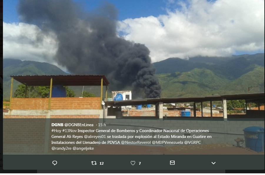حريق فى فنزويلى ادى الى اصابة 7 اشخاص
