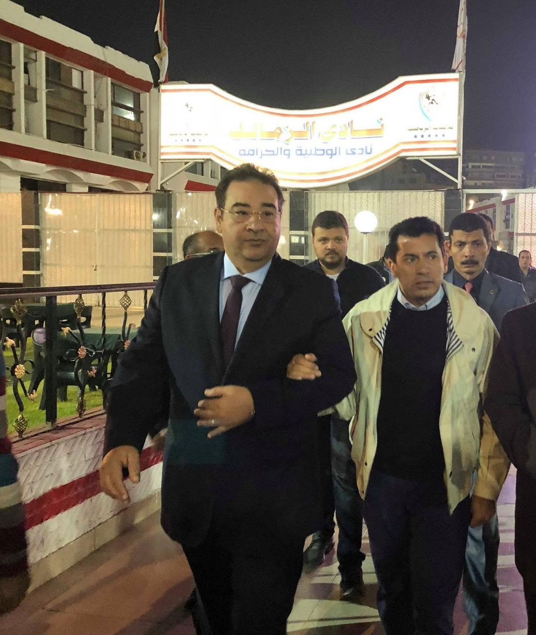 وزير الرياضة والنائب إيهاب الخولى
