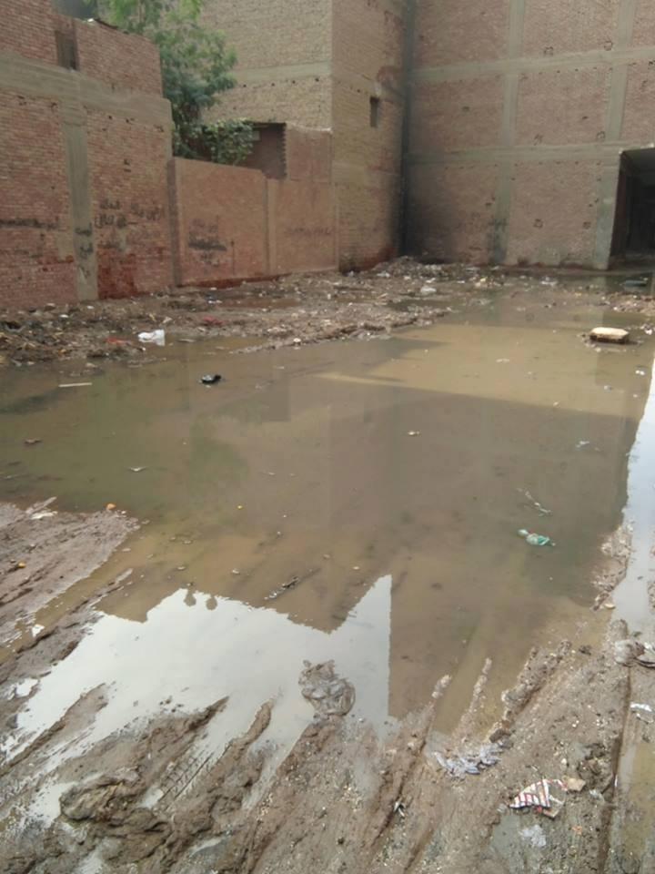 مياه الصرف تحاصر سكان شارع كامل السبكى  (2)