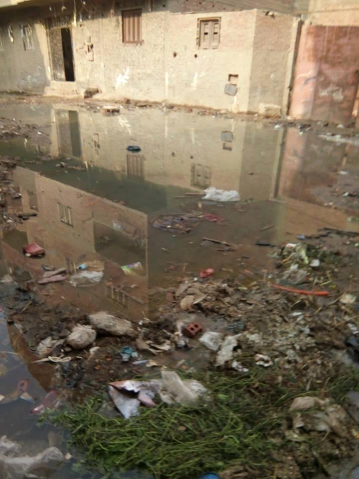 مياه الصرف تحاصر سكان شارع كامل السبكى  (4)