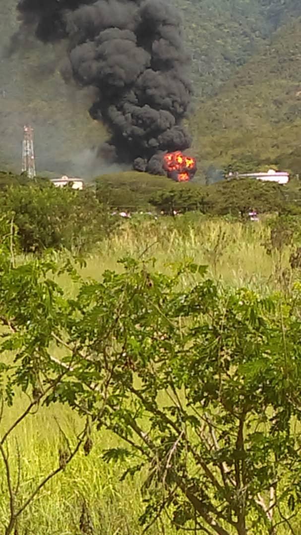 صورة لحريق فى شركة النفط الفنزويلية