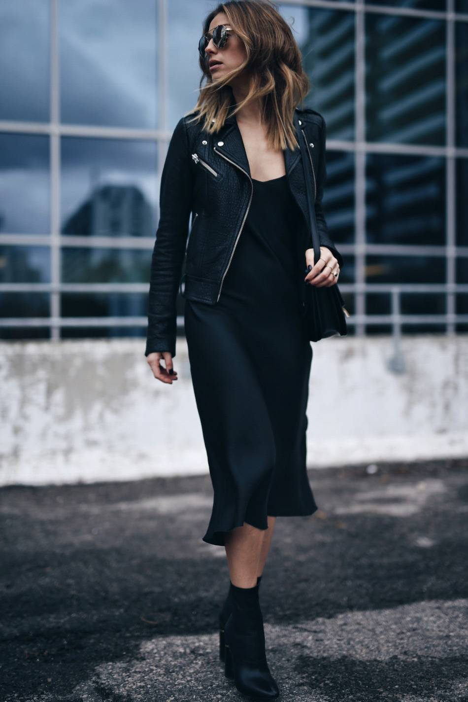 Style-and-beauty-blogger-Jill-Lansky-of-The-August-Diaries-in-a-Mackage-Rumer-leather-jacket-slip-dress-Celine-bag-and-3.1-Phillip-Lim-Kyoto-boots