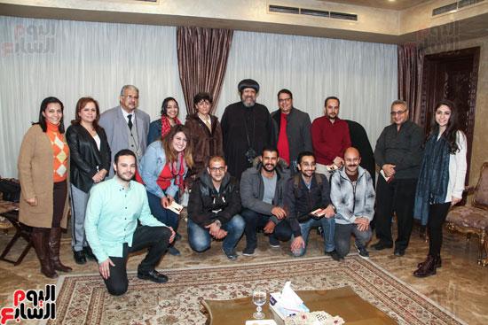 لقاء مع مجموعة من صحفيى الملف القبطى (13)