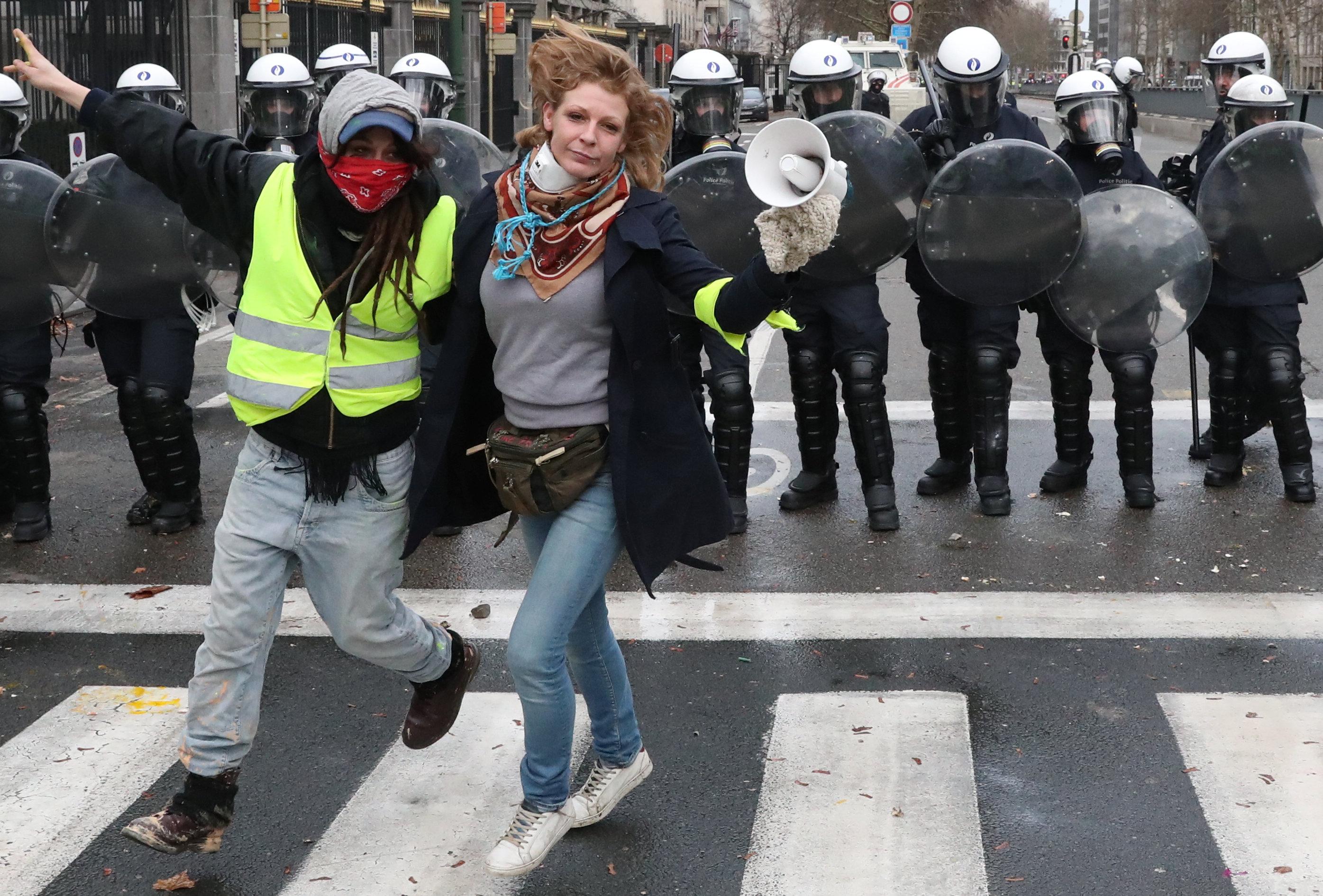 مظاهرات فى العاصمة البلجيكية بروكسل  (3)