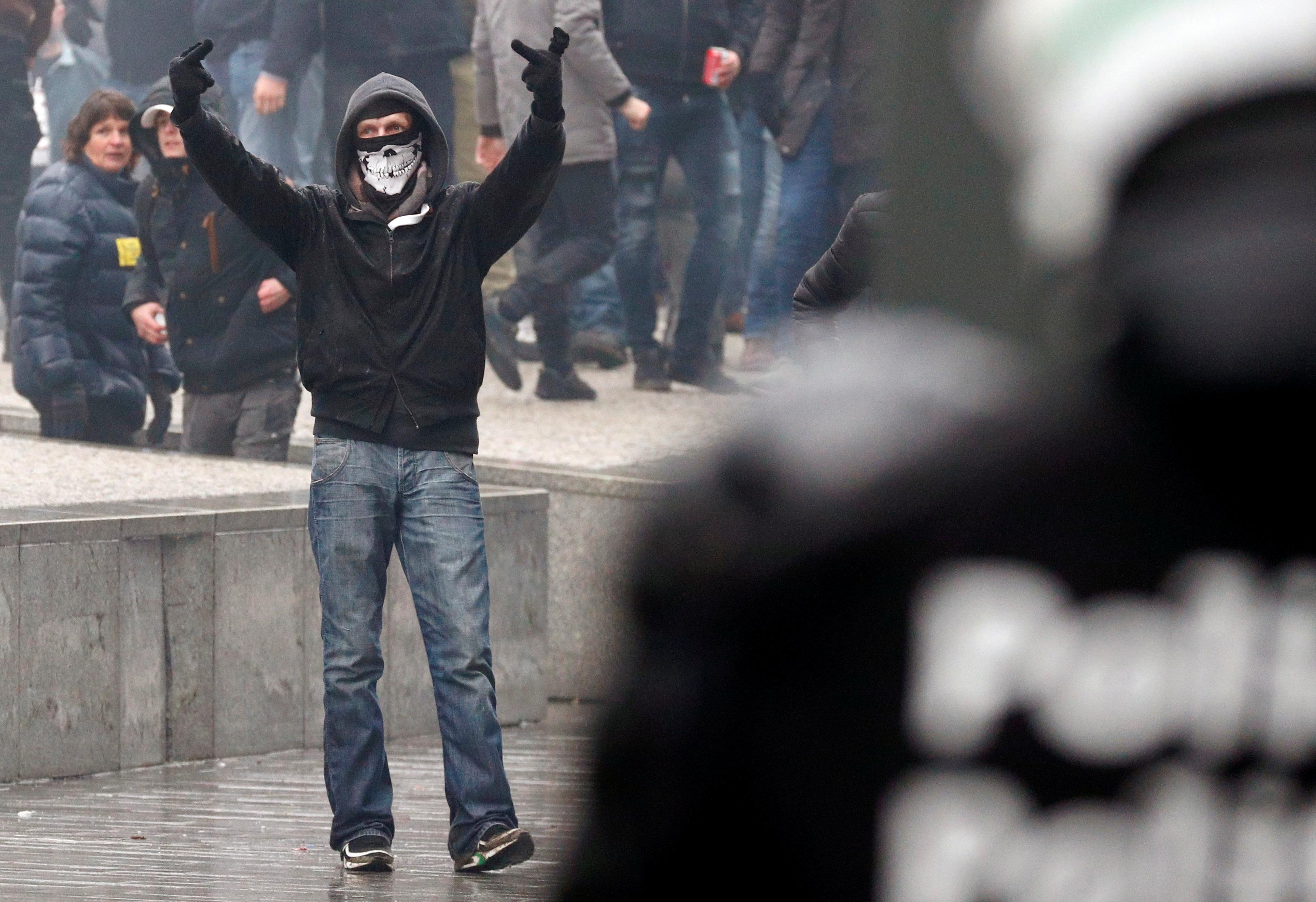 مظاهرات فى العاصمة البلجيكية بروكسل  (12)