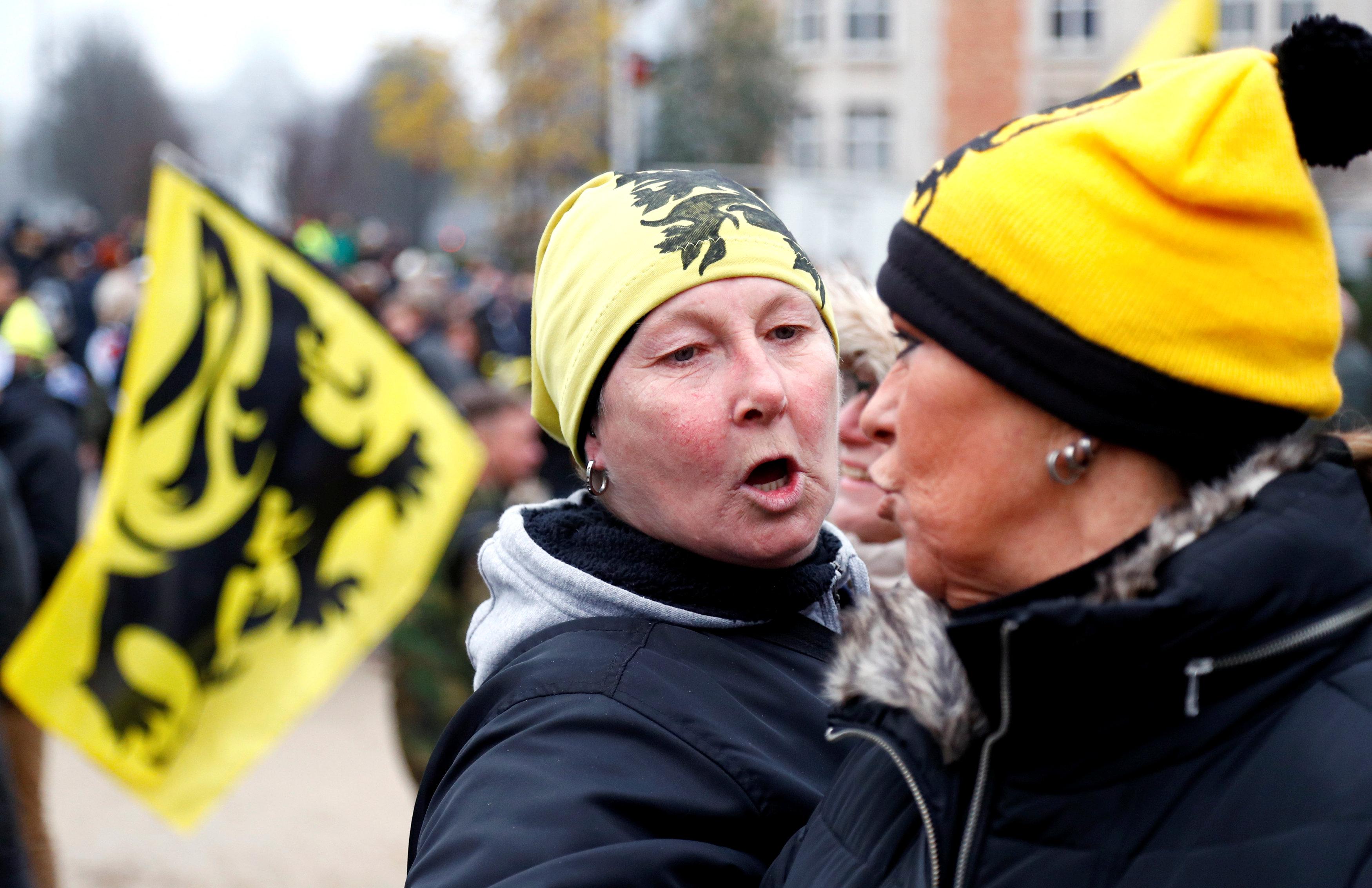 مظاهرات فى العاصمة البلجيكية بروكسل  (10)