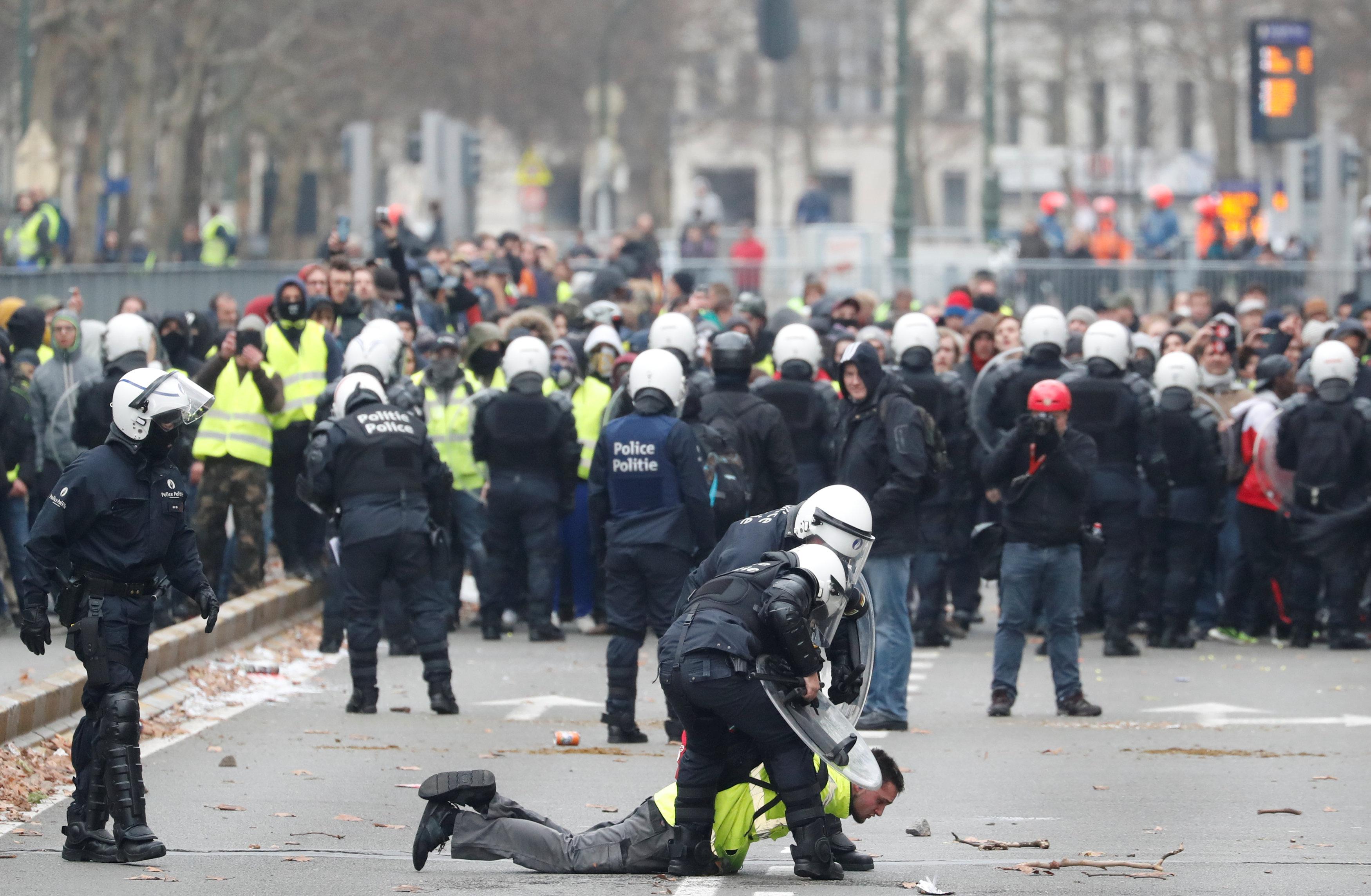 مظاهرات فى العاصمة البلجيكية بروكسل  (2)