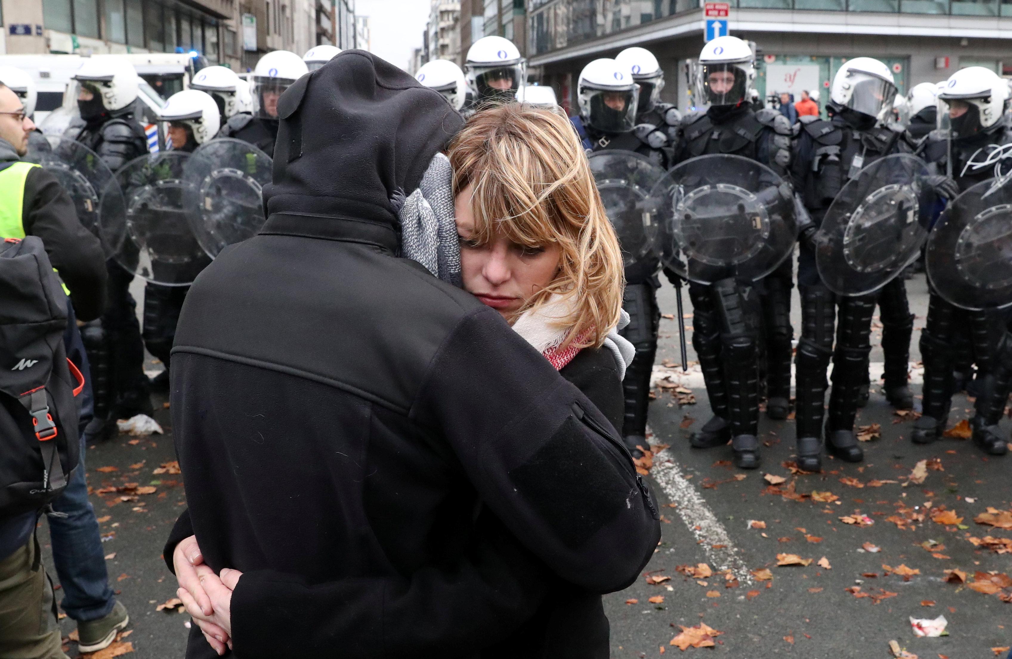 مظاهرات فى العاصمة البلجيكية بروكسل  (4)