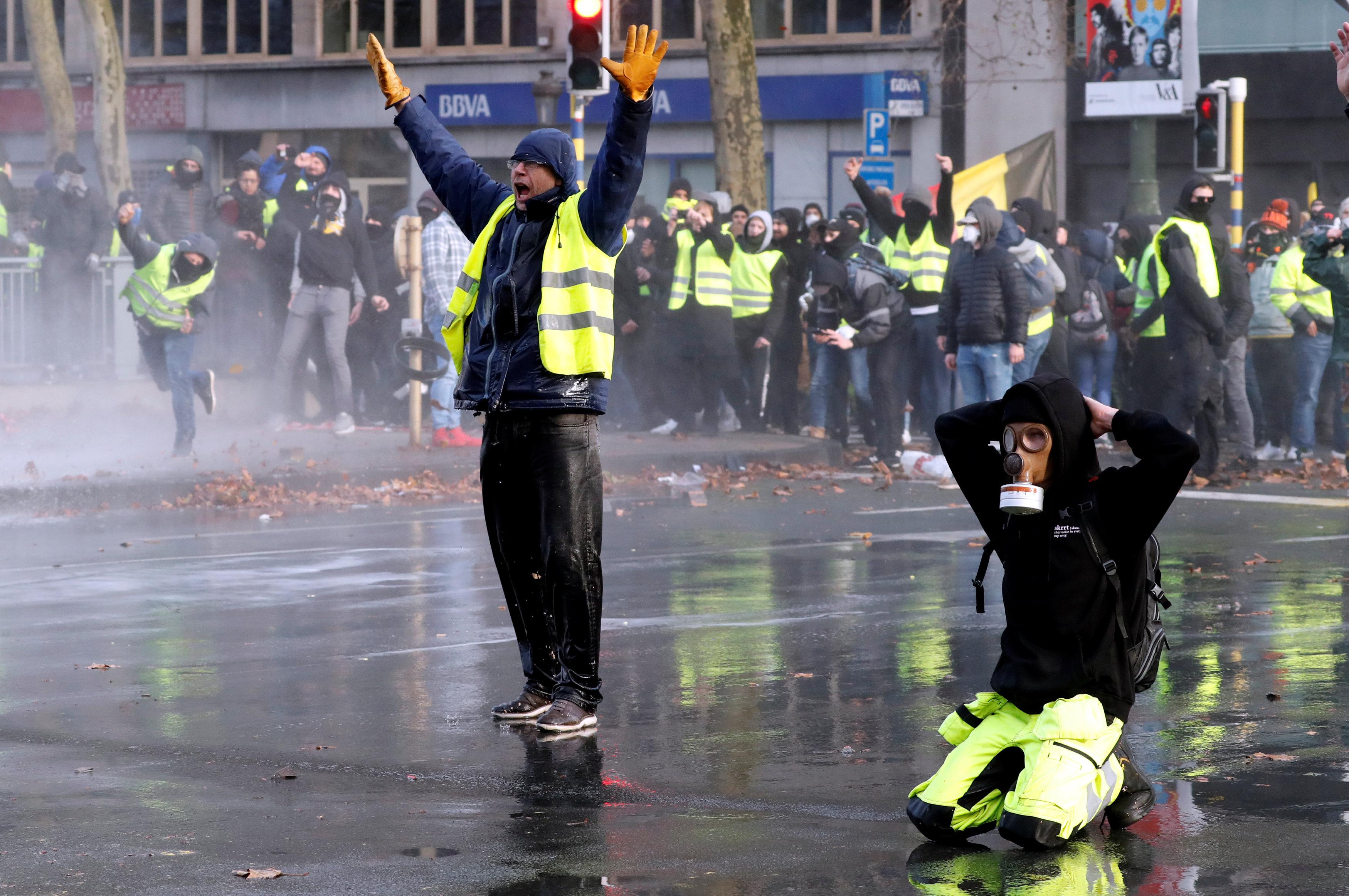 مظاهرات فى بروكسل