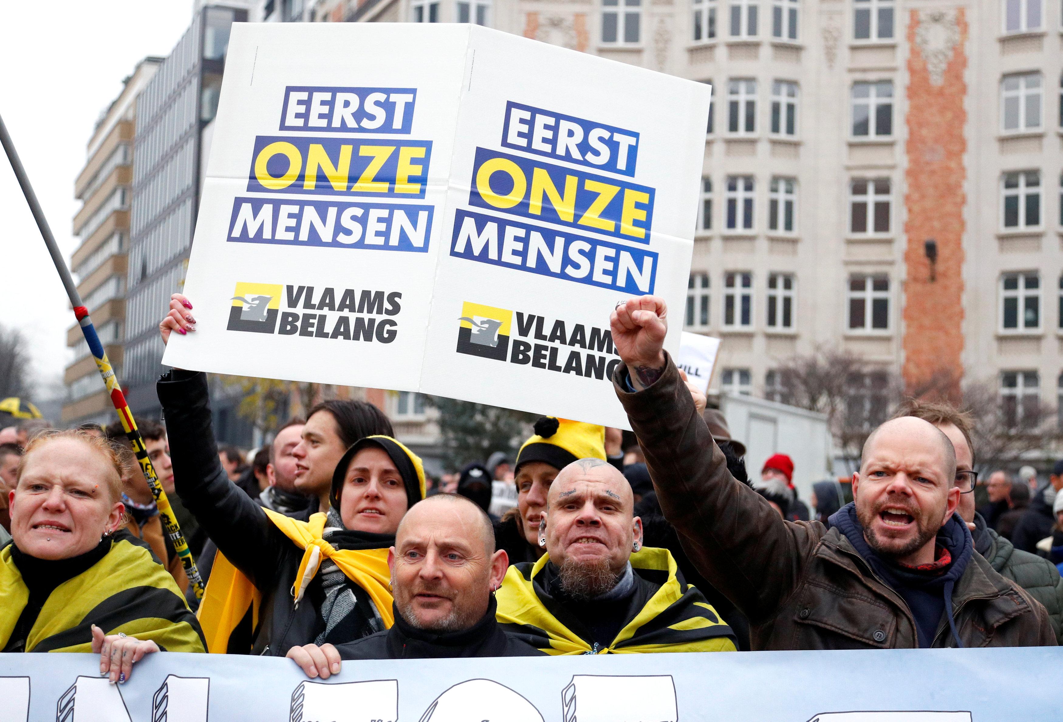 مظاهرات فى العاصمة البلجيكية بروكسل  (11)