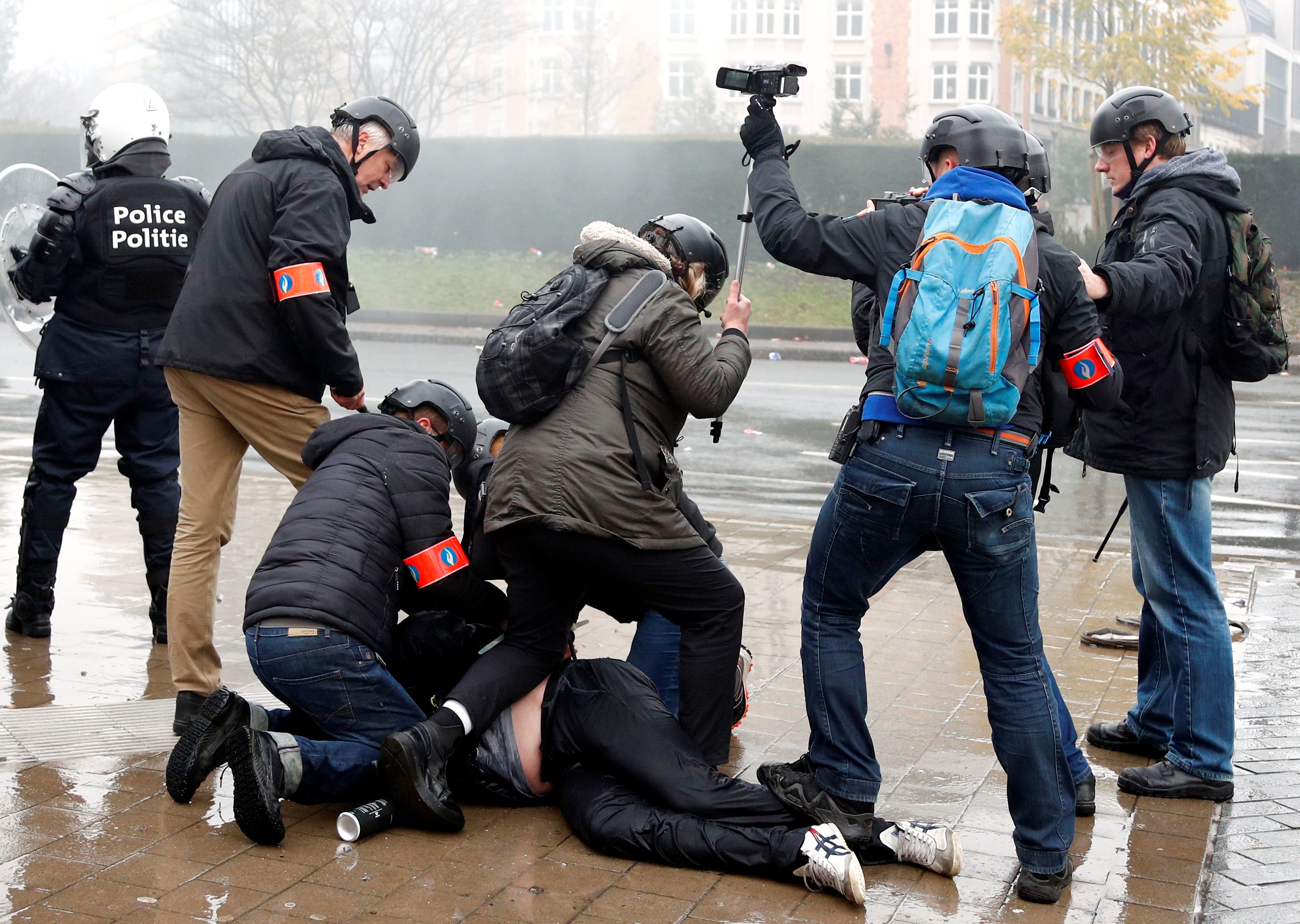 مظاهرات بروكسل (12)
