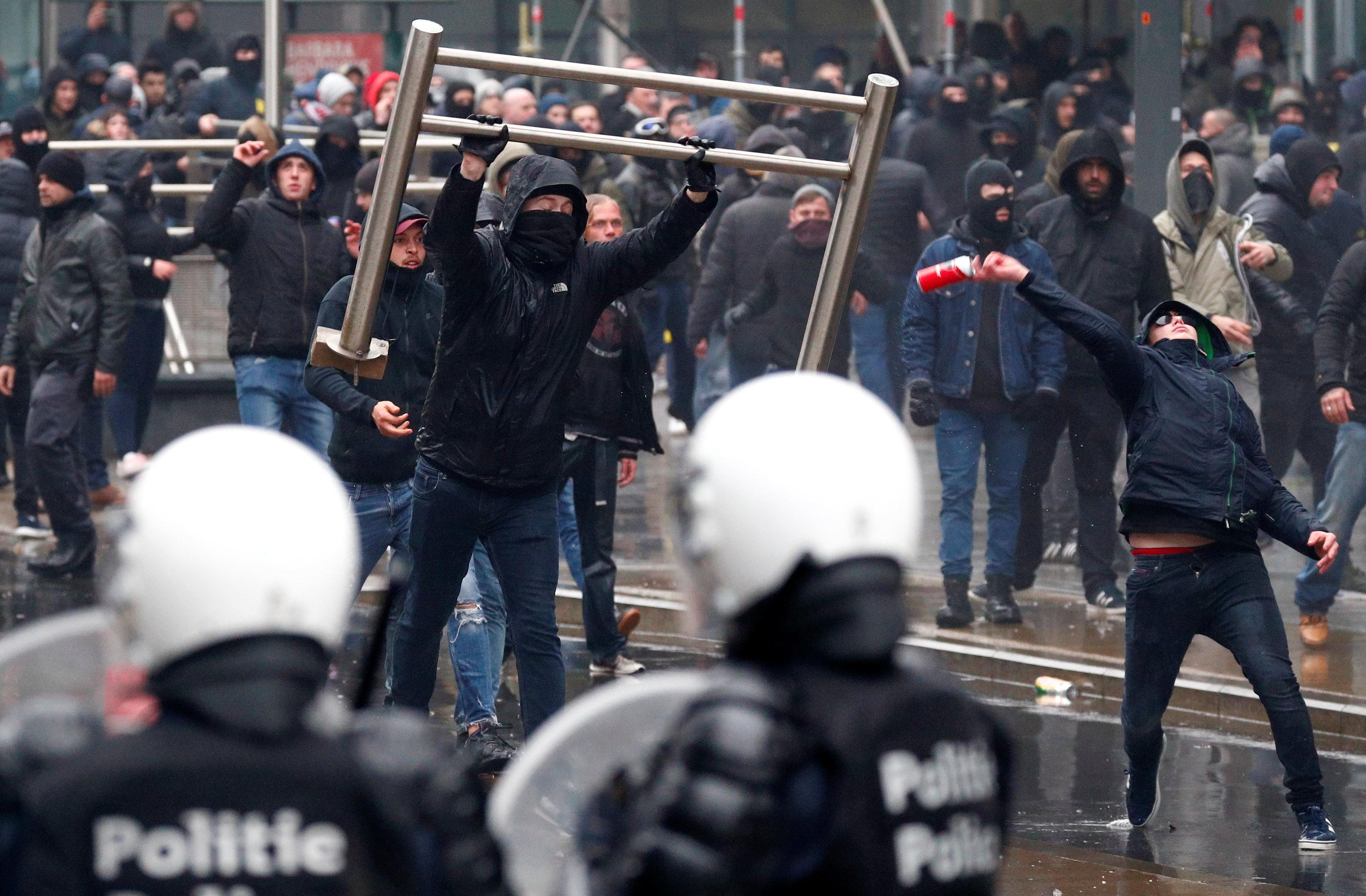 مظاهرات فى العاصمة البلجيكية بروكسل  (13)