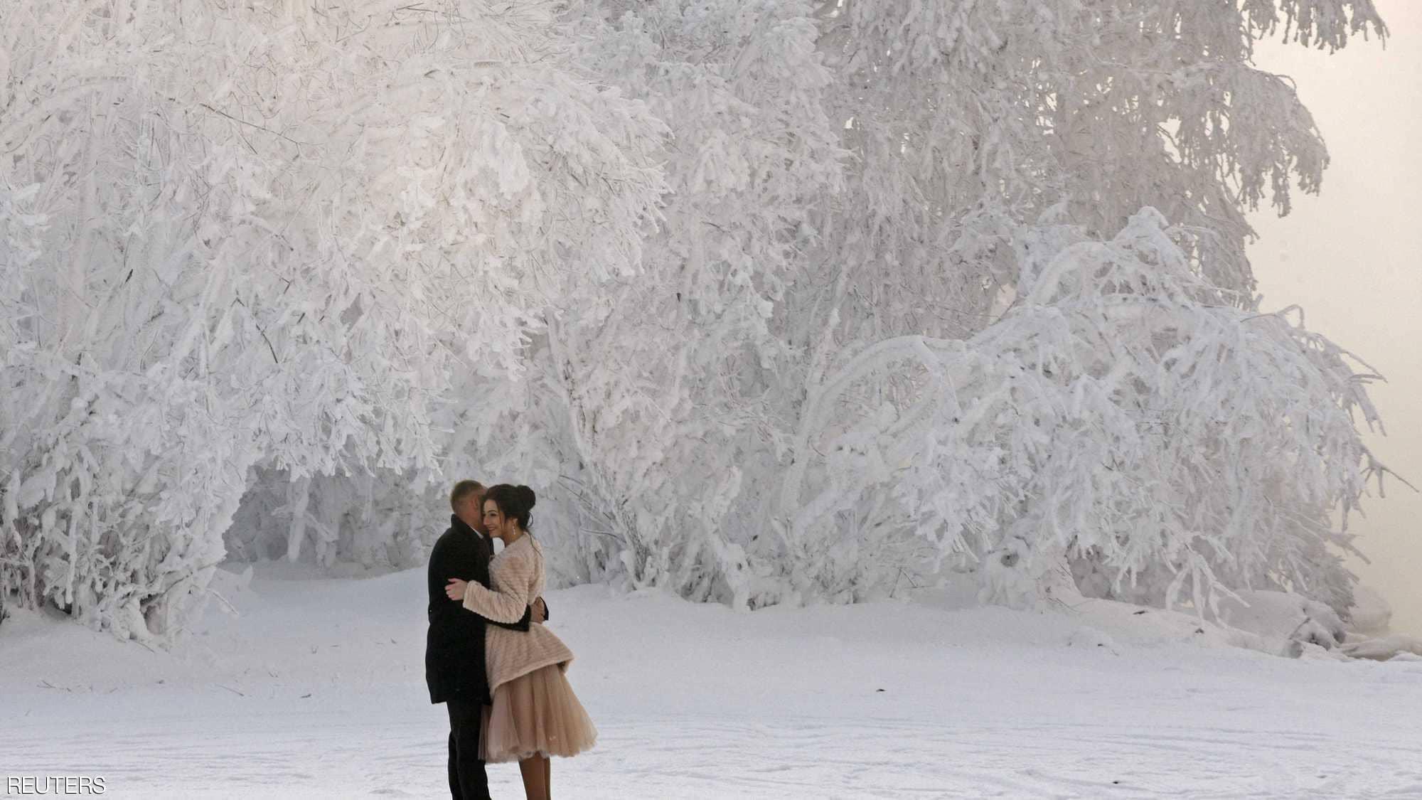 الرومانسية وسط الثلج