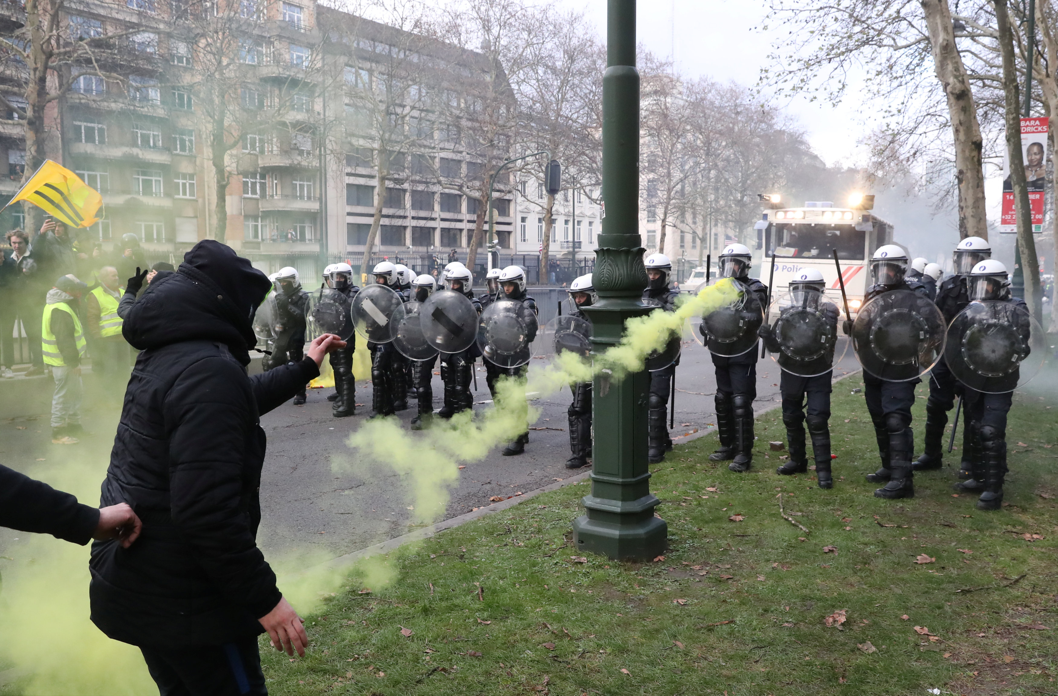 مظاهرات فى العاصمة البلجيكية بروكسل  (1)