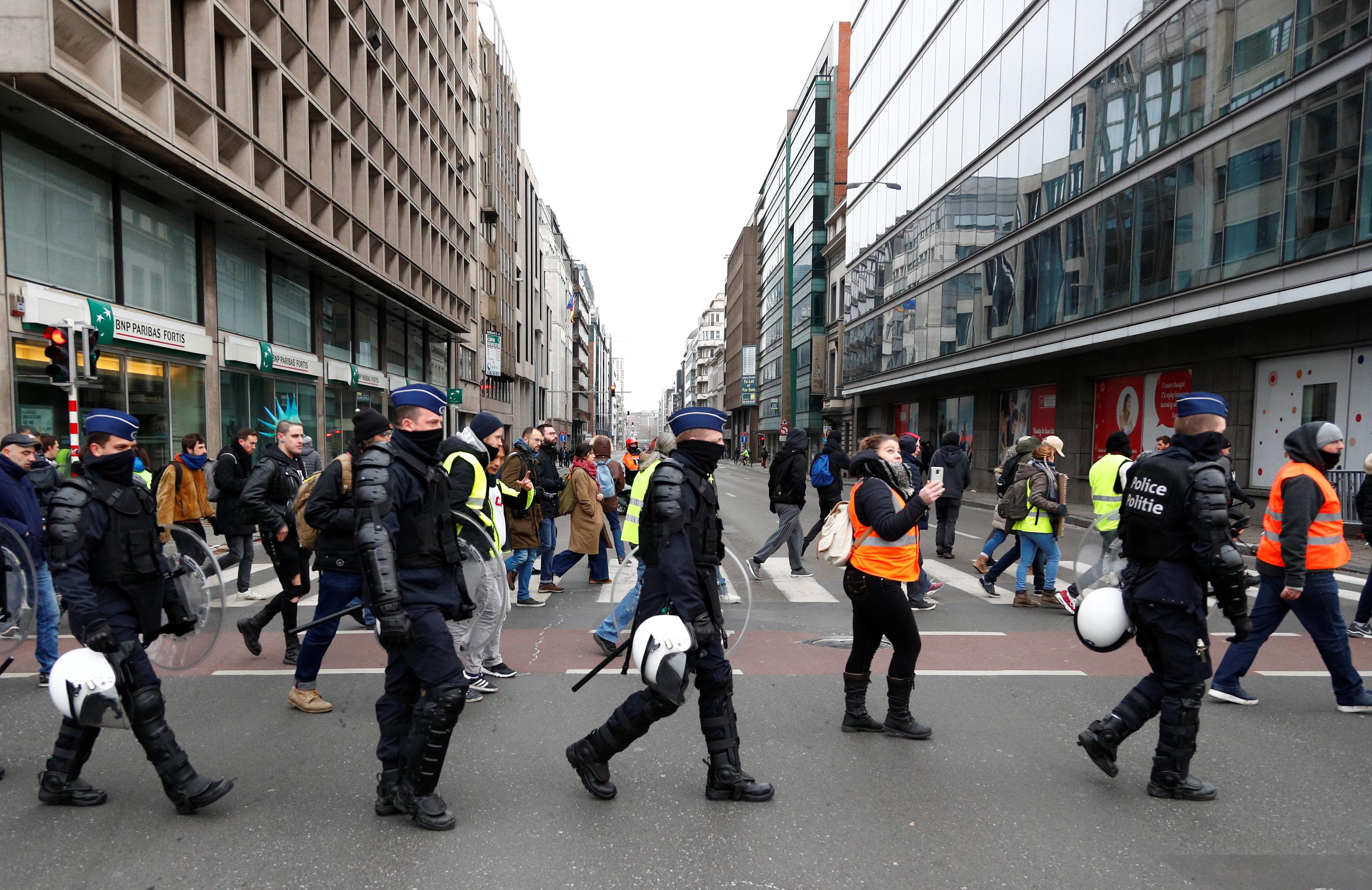 مظاهرات فى العاصمة البلجيكية بروكسل  (9)