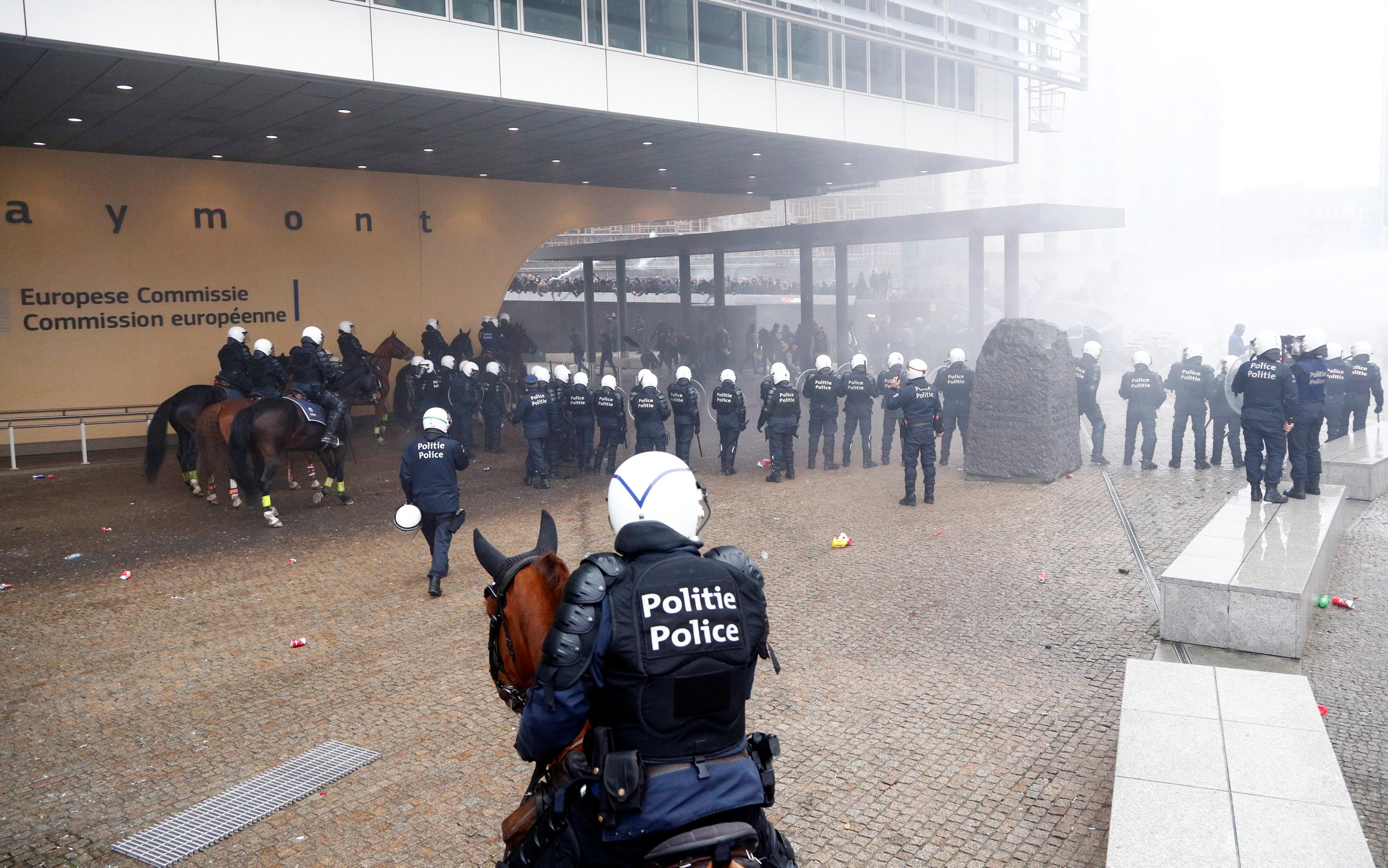 مظاهرات بروكسل (7)