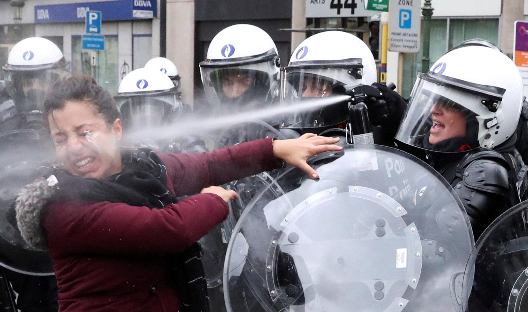 مظاهرات فى العاصمة البلجيكية بروكسل  (8)