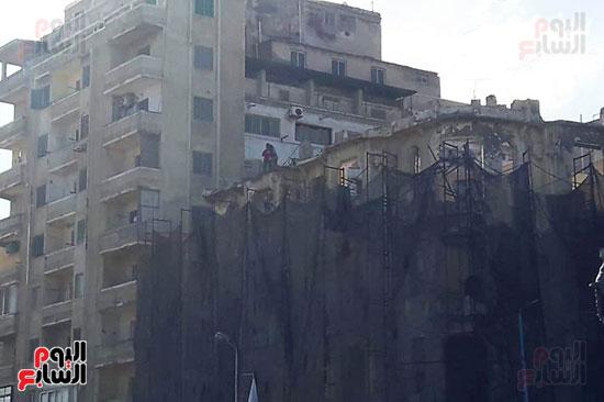 استمرار هدم المبانى التراثية بالإسكندرية (14)