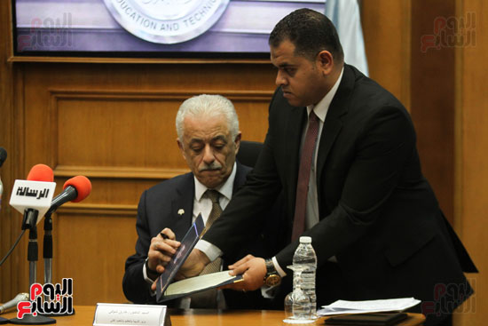 طارق شوقى وزير التعليم  وهالة زايد وزيرة الصحه (10)