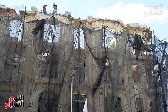 استمرار هدم المبانى التراثية بالإسكندرية (5)