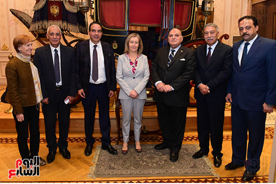 كمال عامر رئيس لجنة الدفاع والأمن القومى بمجلس النواب يستقبل نائب رئيس مجلس الشيوخ الفرنسى (11)