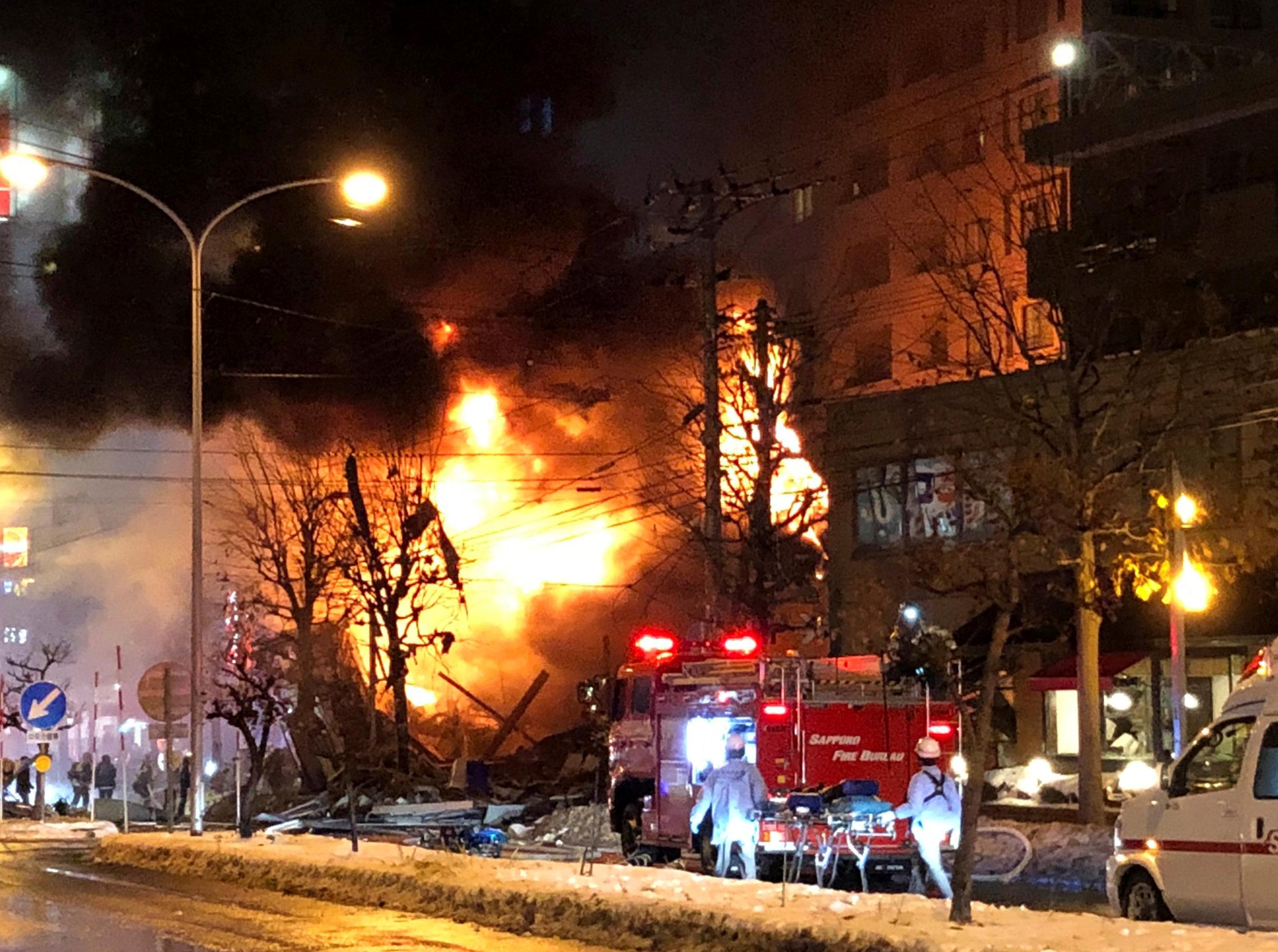 انفجار مطعم شمال اليابان (1)