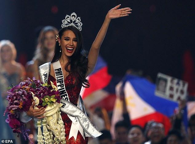 ملكة جمال الفلبين بعد فوزها باللقب