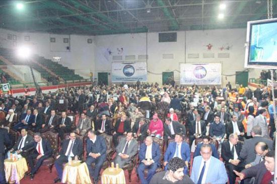 حشد جماهيرى خلال افتتاح مقر حزب مستقبل وطن بالمنصورة