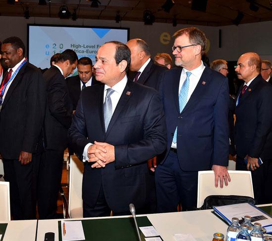الرئيس السيسى بمنتدى فيينا (6)