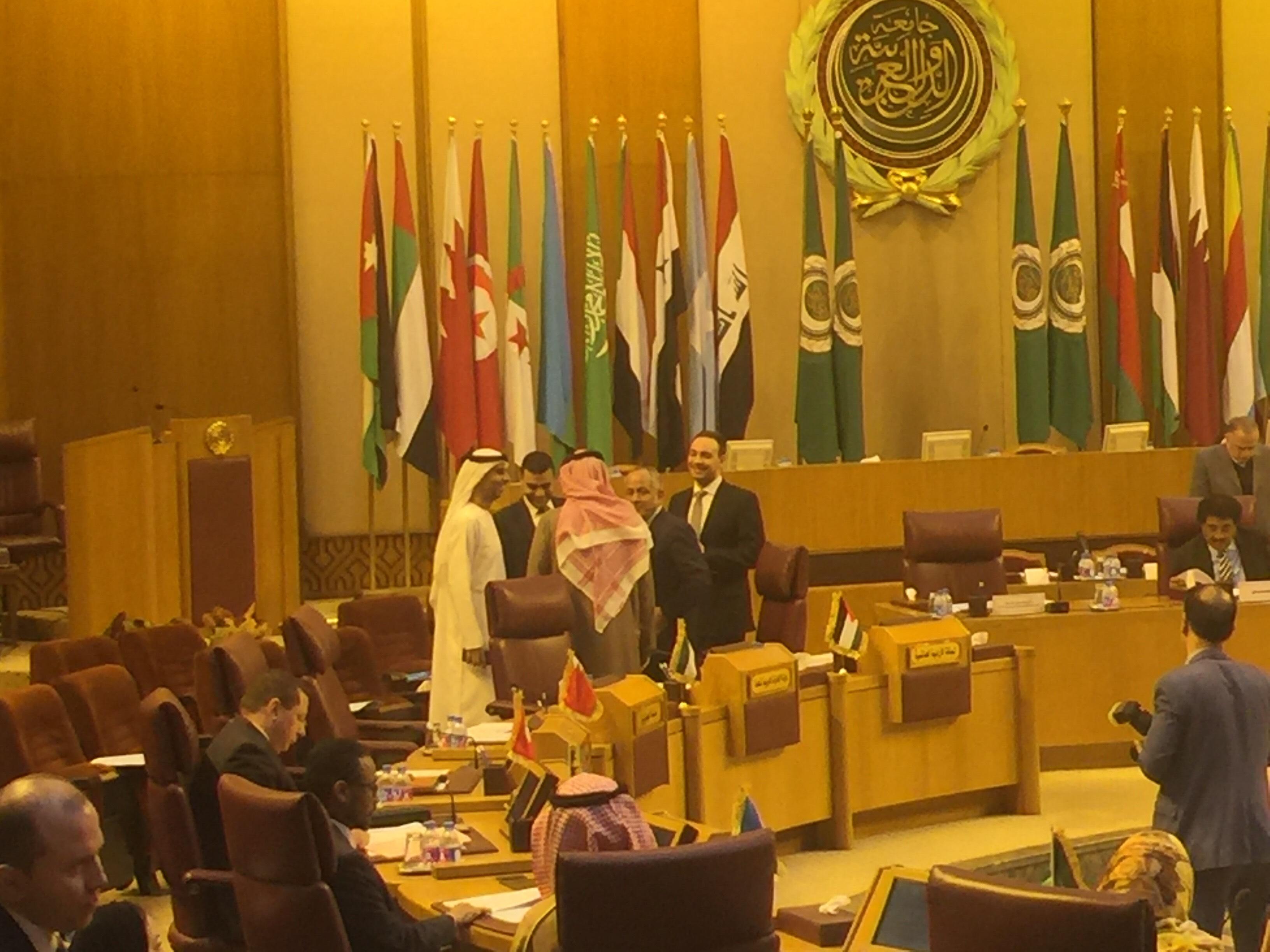 أبو الغيط وعدد من مندوبى الجامعة العربية