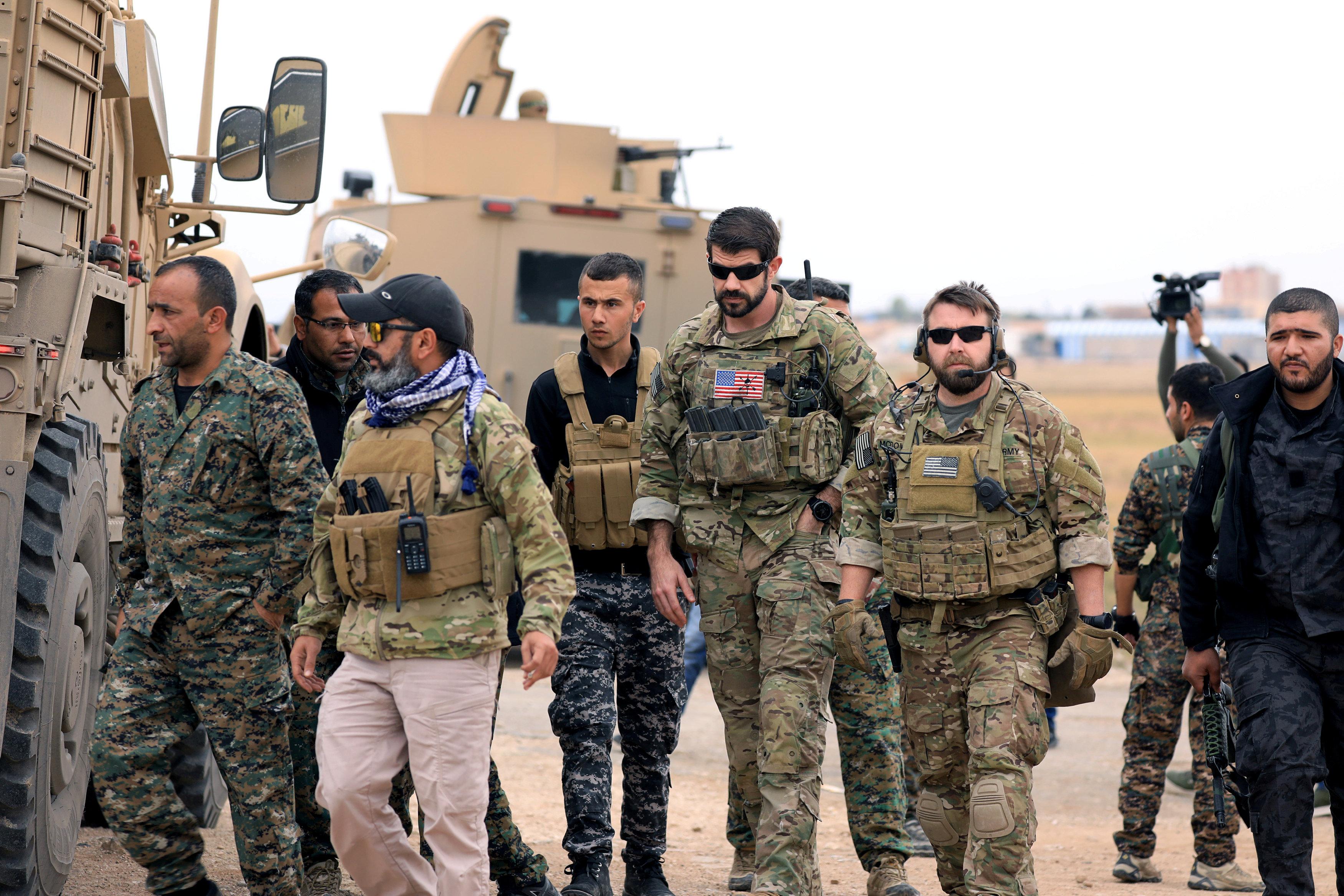 القوات الأمريكية فى سوريا