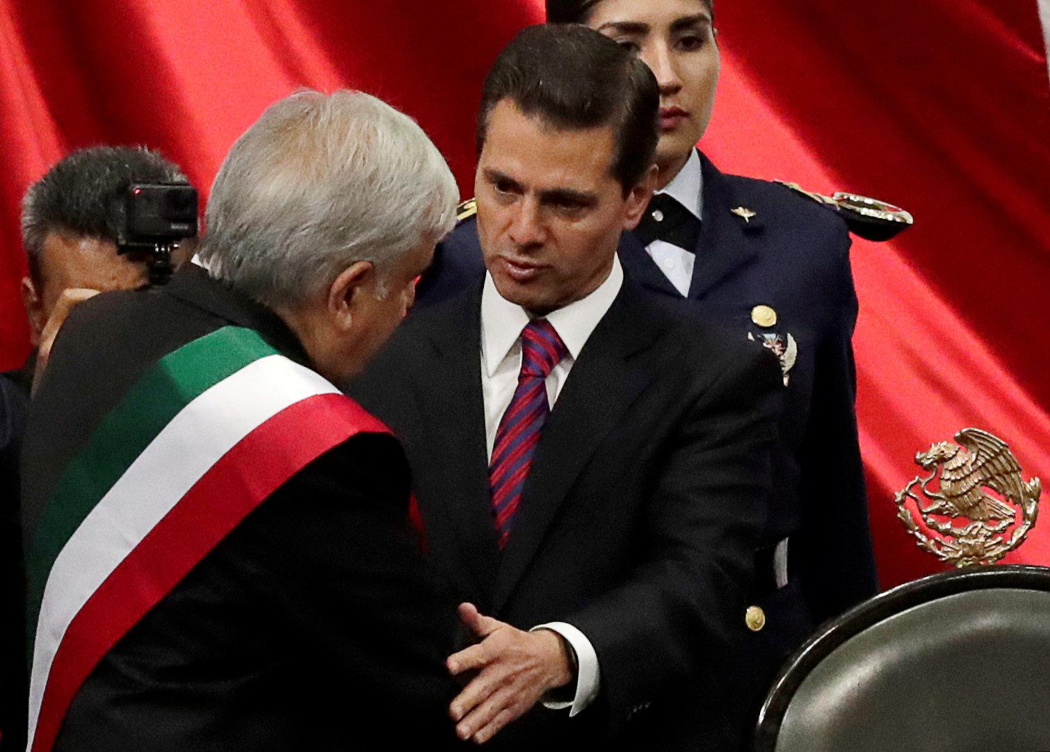 أندريس مانويل لوبيز أوبرادور يتولى منصب الرئيس المكسيكى