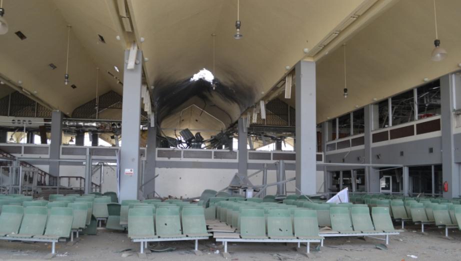مطار عدن قبل إعادة ترميمه عقب قصف الحوثيين