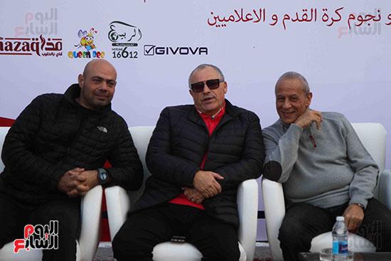 أبو ريدة وشوبير فى ودية قدامى الأهلى والزمالك ضد شلل الأطفال (2)
