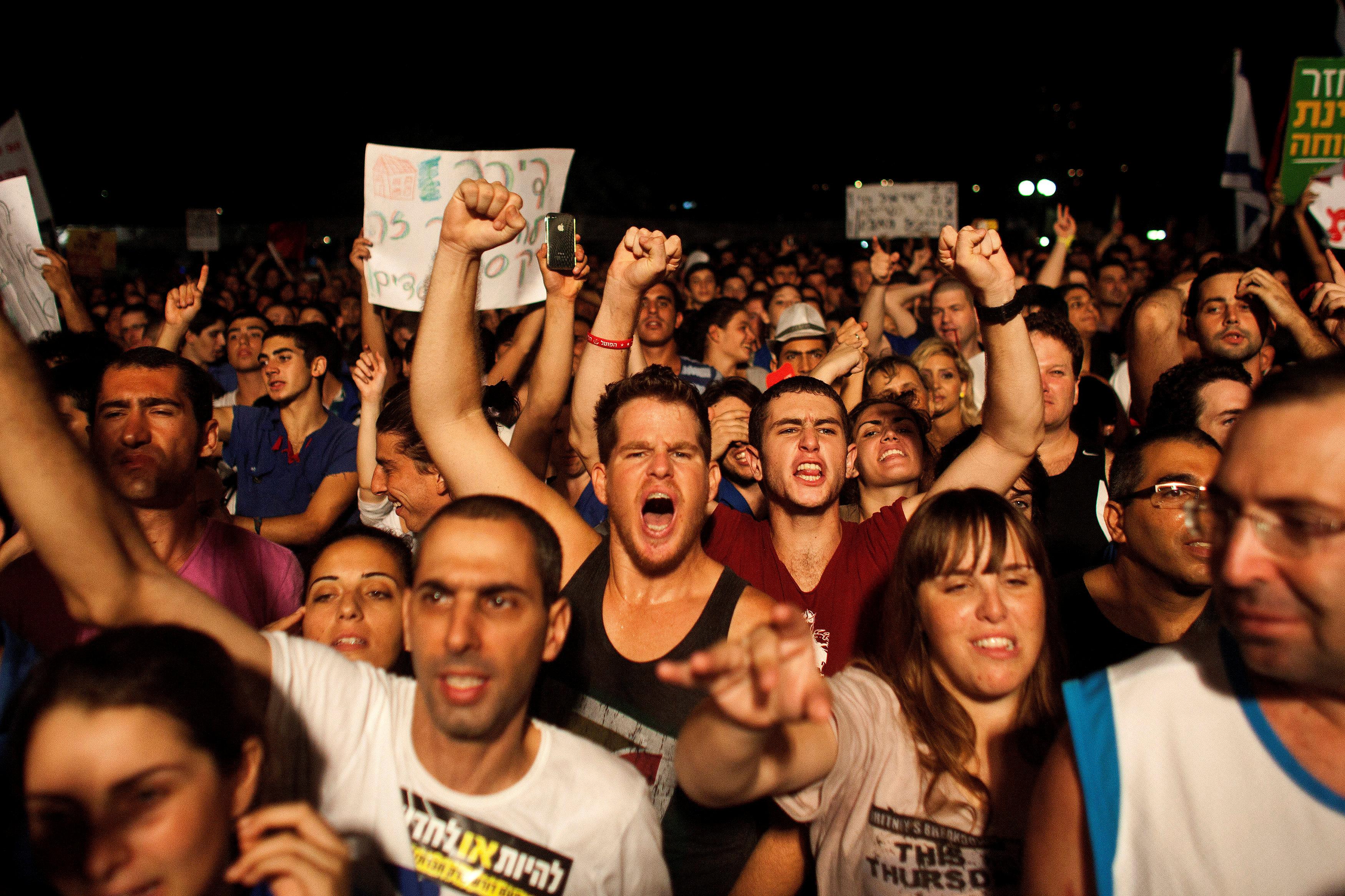 مظاهرات فى تل أبيب ضد غلاء المعيشة (5)