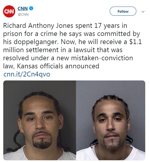 تقارب الشبه يودى ببرئ للسجن 17 عاما