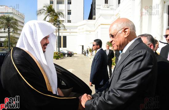 على عبد العال ورئيس مجلس الشورى السعودى (1)